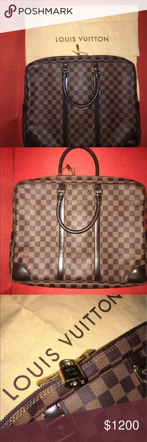 Louis Vuitton Briefcase Authentic Louis Vuitton Daniel Canvas Briefcase, good condition besides the scratch on the corner of the Briefcase Louis Vuitton Bags