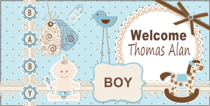 Welcome home baby banner baby banner templates pinterest for Welcome home decorations for baby