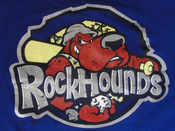 Texas Midland Rockhounds T-Shirt Blue Medium Minor League Baseball Crew Neck Tee #Majestic #GraphicTee