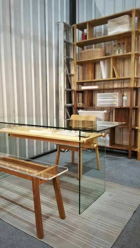 SIM THRU BENCH 120 cm. / G TABLE / FLAT SHELF #takehomedesigncollection