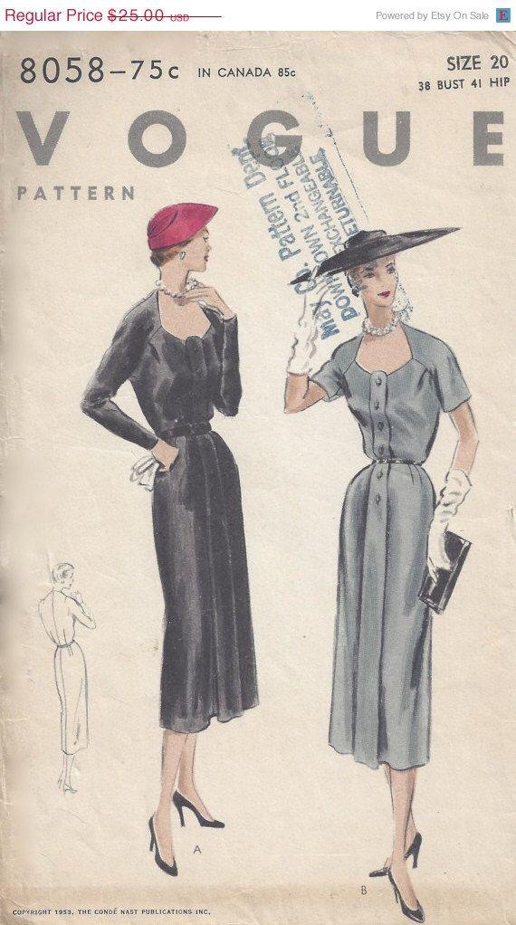 40% di sconto Vogue 8058 Box piega pulsante frontale matita Wiggle Dress Sz 20 busto 38 anca 41 di DecadesofCharm su Etsy https://www.etsy.com/it/listing/228856783/40-di-sconto-vogue-8058-box-piega
