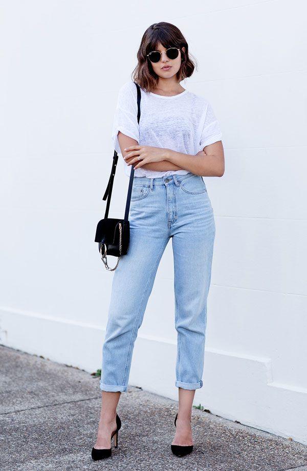 talisa sutton look t-shirt calça jeans