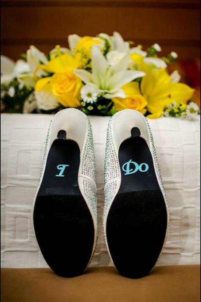 Blue I do on shoe