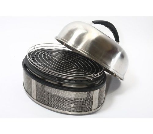 The Cobb Supreme is truly in a league of its own!It is made of the highest grade stainless steel and iseconomical and user friendly.  The portable nature of Cobb has been carried through to the Supreme - cooking anything , anywhere, anytime. Fuelled with only 2 Cobble Stones, 600g charcoal or 12 to 20 charcoal briquettes, the Cobb Supreme is still truly economical.  Includes Roast Rack and Carry Bag