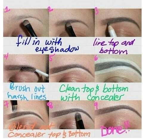 Love this brow tutorial! Funny, i actually do most of this +/- a ccpl things ;)