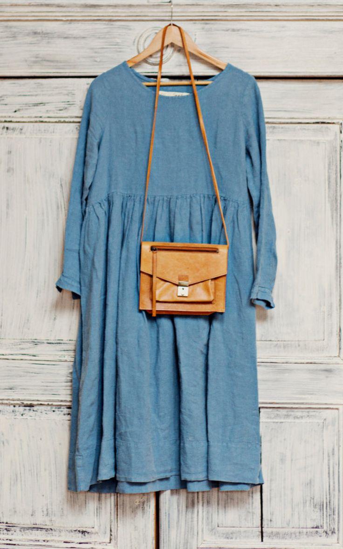 Linen Smock Dress by SondeflorShop on Etsy                                                                                                                                                                                 More