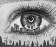 I can see the whole world in your eyes..