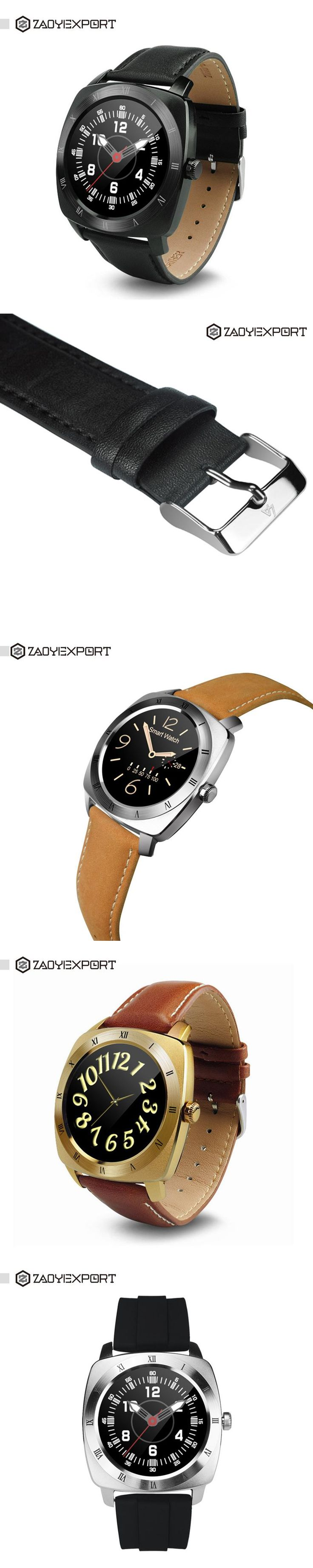 ZAOYIEXPORT DM88 Smart Watch Round Bluetooth Smartwatch Support Heart Rate Monitor for iOS Apple Iphone Android Smartphone