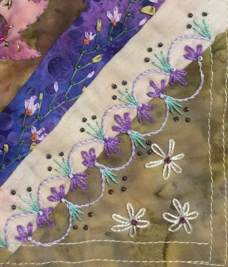 CRAZY QUILTING INTERNATIONAL: Spring Challenge 2016: Best Extended Seam