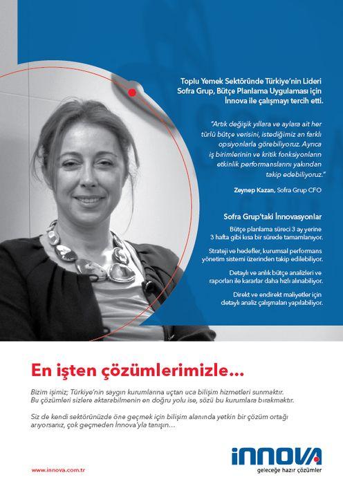 '' En işten çözümlerimizle... '' Toplu yemek sektöründe Türkiye'nin lideri Sofra Grup, bütçe planlama uygulaması için İnnova ile çalışmayı tercih etti. #innovabilisim