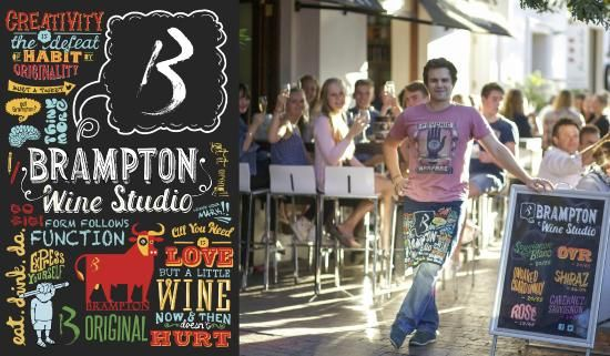Brampton Wines in Stellenbosch - a place to make a stop and sip on a slow glass of beautiful wine in summer