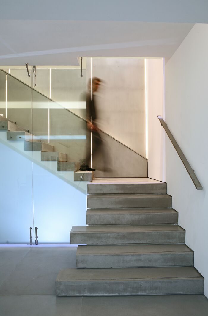 Staircase at Zoumboulakis Galleries in Athens designed by Zoumboulakis Architects. Photo by Costas Pigadas.