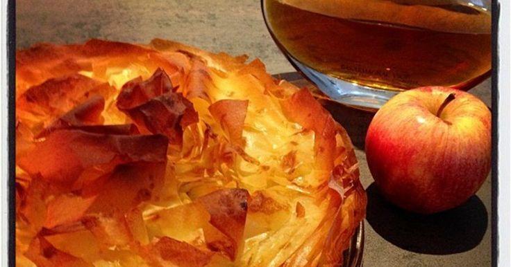 Croustade - Pommes - Armagnac - Pâte filo - Gers - Croustade Tarte aux pommes dessert croustillant