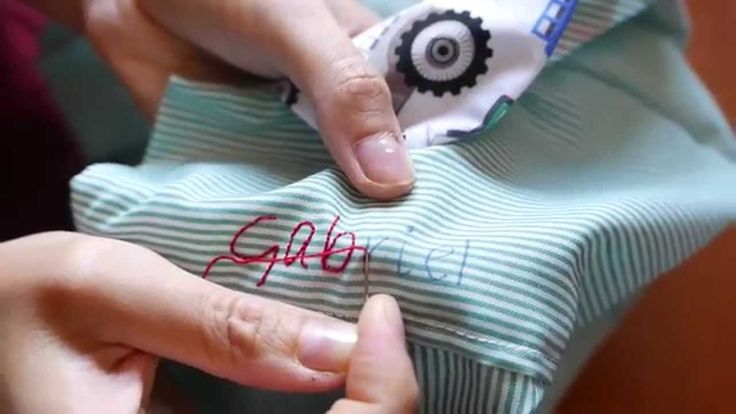 How to #embroider #letters easily video tutorial. Aprende a #bordar letras a mano, fácilmente