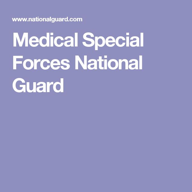 Medical Special Forces National Guard