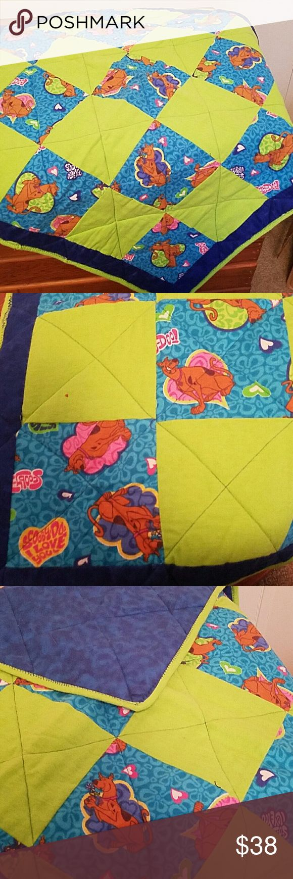 """Scooby-Doo baby blanket Handmade Scooby-Doo baby blanket/play pad. Flannel material.  Size: 29""""x61"""" Accessories"""