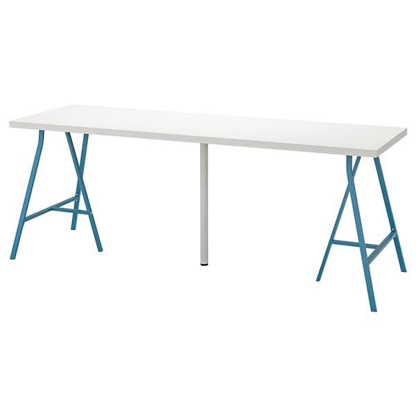 Linnmon Alex White Table 200x60 Cm Ikea In 2020 Ikea Ikea Table Table