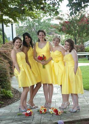 7ba83ef426b robes courtes demoiselles d honneur jaunes pour mariage été