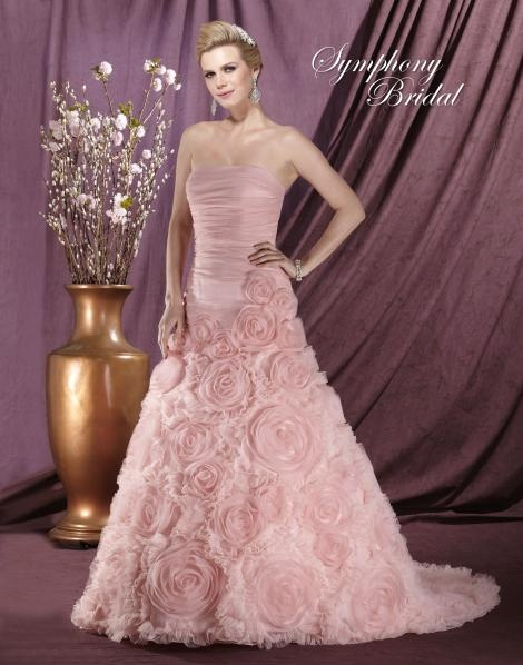 17 best images about pink wedding dresses on pinterest for Rose pink wedding dress