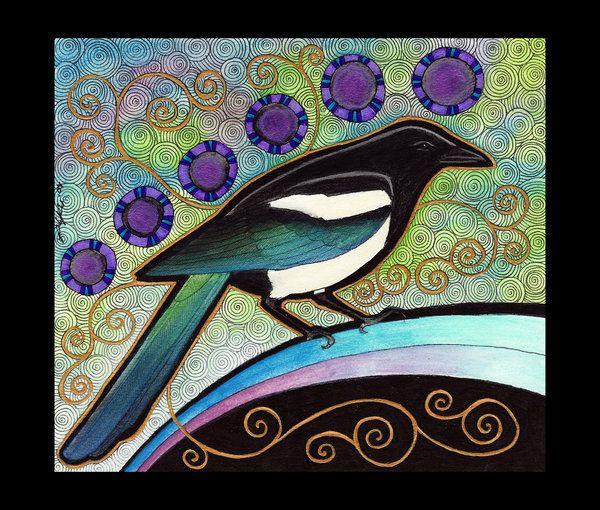 Black-Billed Magpie as Totem by *Ravenari on deviantART