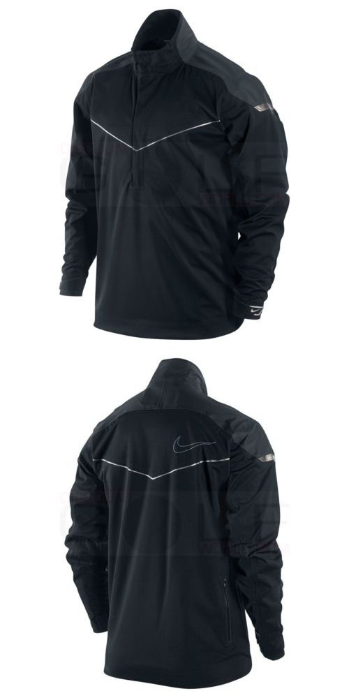 e8d28affa646 Coats and Jackets 181134  Nike Men S Storm-Fit Elite Half Zip Golf Jacket  416273-010 Black Large -  BUY IT NOW ONLY   79.19 on eBay!