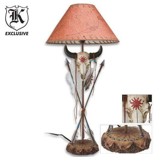 Amazon.com: Cow Skull And Arrow Resin Table Lamp: Sports & Outdoors