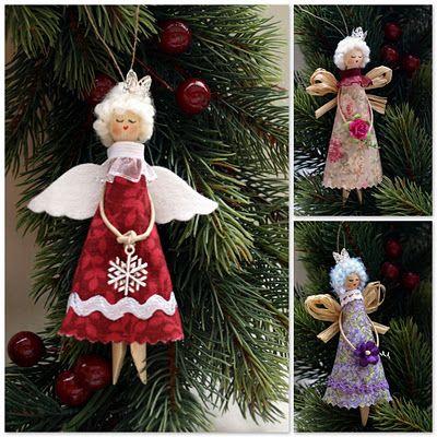 Ангелочки - МК / Angels (dolly peg dolls) - tutorial