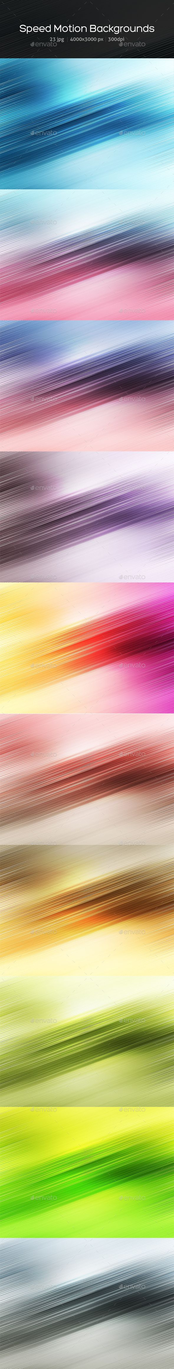 This pack includes 23 Speed Motion Backgrounds. 4000x3000 px (300 dpi)