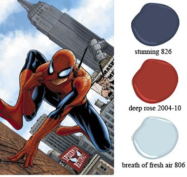 spiderman colors for bedroom | Rainbow State Paint & Decorating - A New Take on Superhero Themed ...