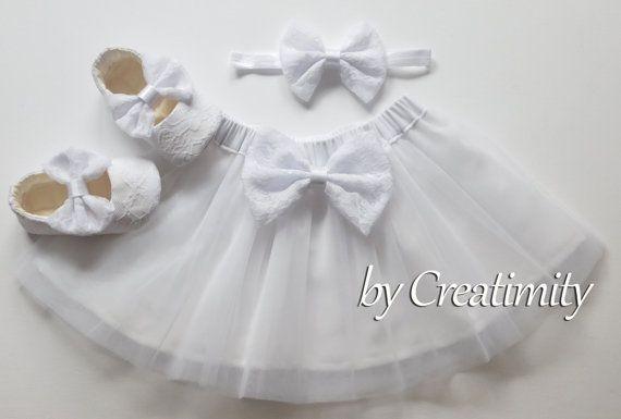 White tutu skirtlace tutusoft tutuballerina by CreatimityElegance