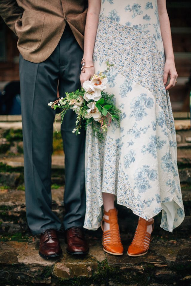 Floral print maxi dress from Free People   My Dear Love   see more on: http://burnettsboards.com/2014/10/wooded-floral-wedding-inspiration/