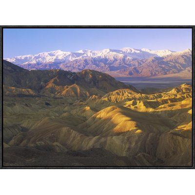 East Urban Home 'Looking At Panamint Range Over The Furnace Creek Playa From Zabriskie Point, Death Valley National Park, California' Framed Photog...