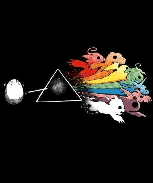 I love this a hella lot more than the Pink Floyd shirt. I want this on a shirt, actually