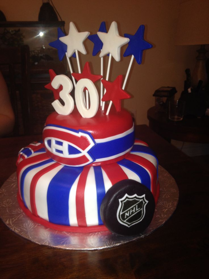 Montreal Canadiens cake #2