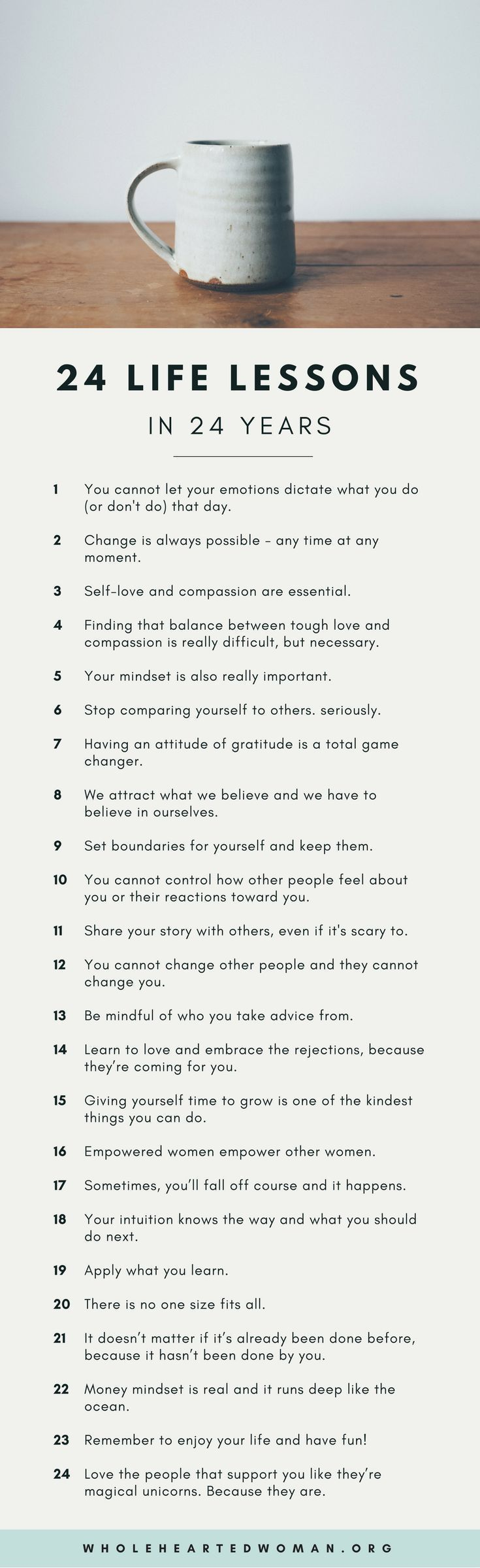 24 Life Lessons in 24 Years   Life Advice   Personal Growth & Development   Mindset