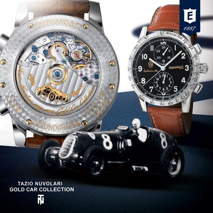 Tazio Nuvolari Golda Car Collection by Eberhard & Co. #eberhardwatches #eberhard_co #eberhard #tazionuvolarichronograph #tazionuvolari