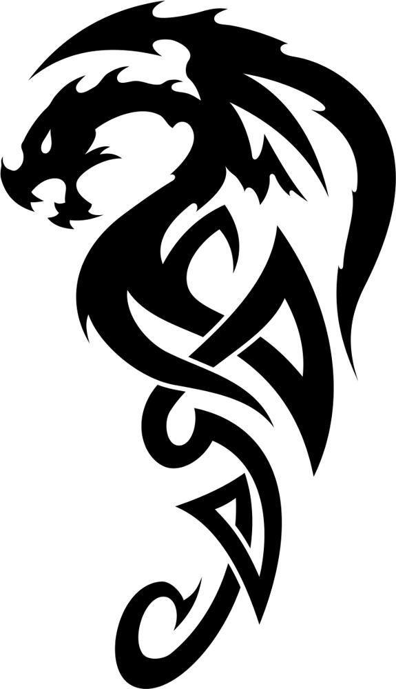Keltischer Drache Tatowierungs Vektor Celtic Dragon Tattoos Dragon Tattoo Stencil Small Tribal Tattoos