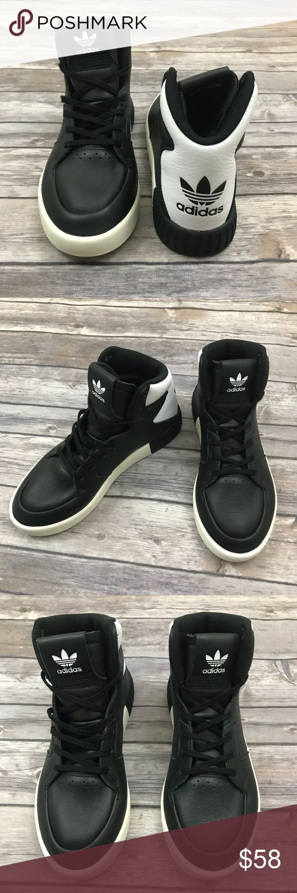 New Adidas Tubular High Top Tennis Shoes Adidas Originals Tubular High Top Sneakers in Black and White •New without box •Retails for $120  Check out my other listings- Nike, adidas, Michael Kors, Hunter Boots, Kate Spade, Miss Me, Rock Revival, Coach, Wildfox, Victoria's Secret, PINK, True Religion, Ugg Australia, Free People and more! adidas Shoes Athletic Shoes