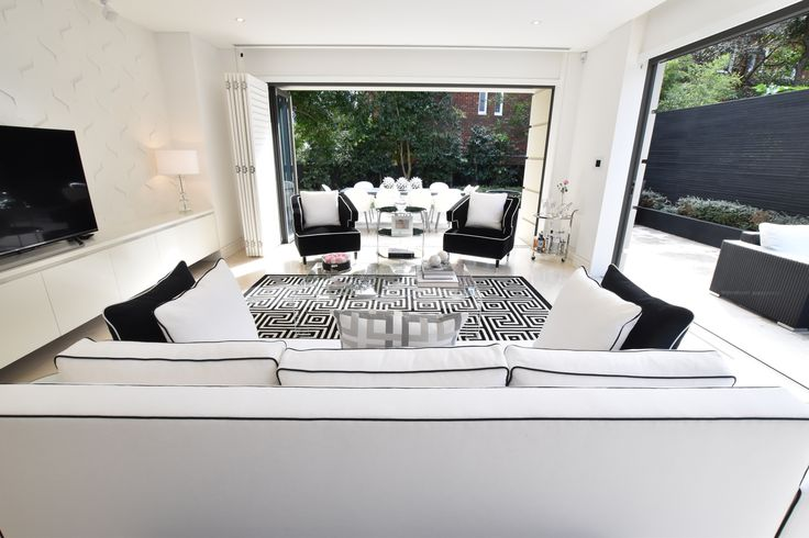 Indoor outdoor flow was a very important factor in this interior design