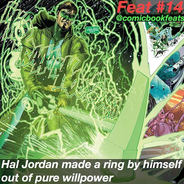 DC Feat #14: Hal Jordan created a Pure-will Ring
