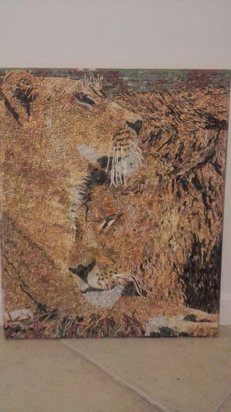 Mermer mozaik aslanlar / marble mozaic lions