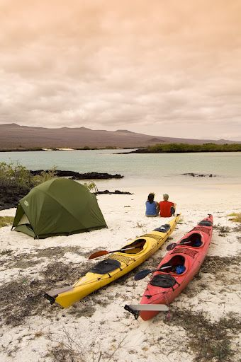 Nothing more romantic than camping on the Galapagos Islands and Kayaking together throughout!