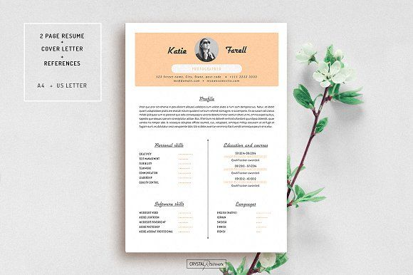 Resume Template for MS Word by CrystalResumes on @creativemarket