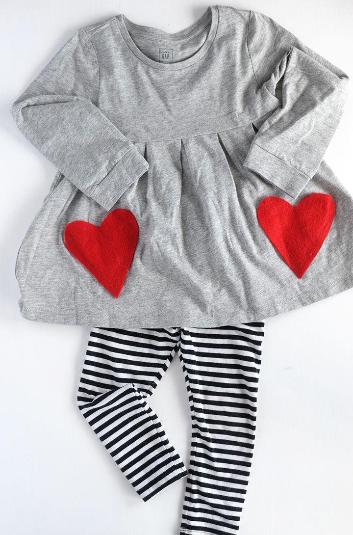Make this DIY Heart Pocket Shirt for Valentine's Day!