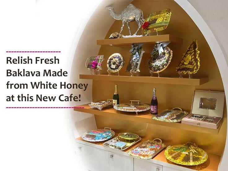 Relish Fresh Baklava Made from White Honey. Address: 1, Shilp Aaron Complex, Sindhu Bhavan Road, Bodakdev, Ahmedabad Contact Number: +91-8511083836/7 #Desserts #Cafes #Bakery #Sweets #TurkishDelights #GwaliaBaklawa #CityShorAhmedabad