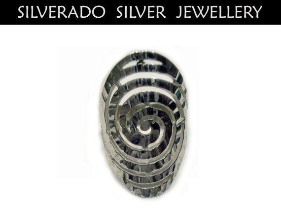 Ancient Greek Eternity Spiral Key Long by SilveradoJewellery, €32.00