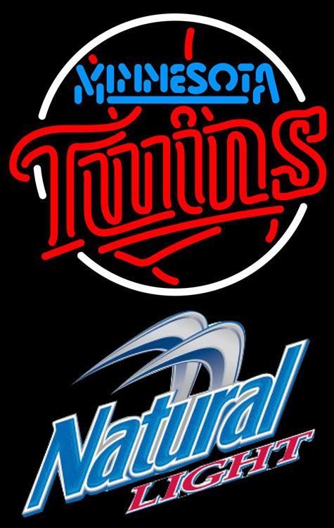 Natural Light Minnesota Twins MLB Neon Sign 3 0012, Natural Light with MLB Neon Signs | Beer with Sports Signs. Makes a great gift. High impact, eye catching, real glass tube neon sign. In stock. Ships in 5 days or less. Brand New Indoor Neon Sign. Neon Tube thickness is 9MM. All Neon Signs have 1 year warranty and 0% breakage guarantee.