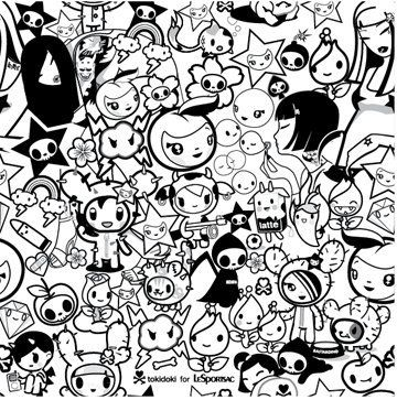 tokidoki color page - Tokidoki Donutella Coloring Pages
