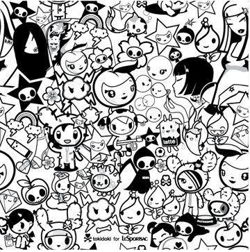 tokidoki coloring pages see more tokidoki kawaii right