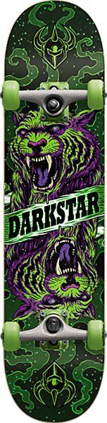 "Darkstar Skateboards Zodiac Green Mid Complete Skateboards - 7.62"" x 31.25"""